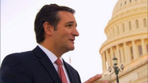 Senator Ted Cruz (R-TX) talks to CNN's Dana Bash on the steps of Capitol Hill Monday, September 23, 2013.