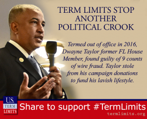 Another Political Crook Thwarted by Term Limits