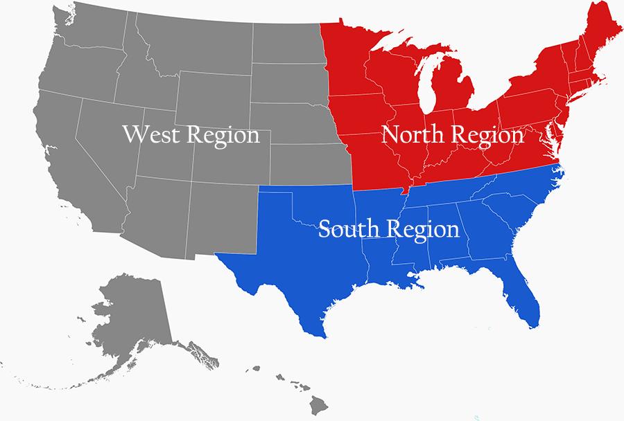 USTL Regional Map Medium