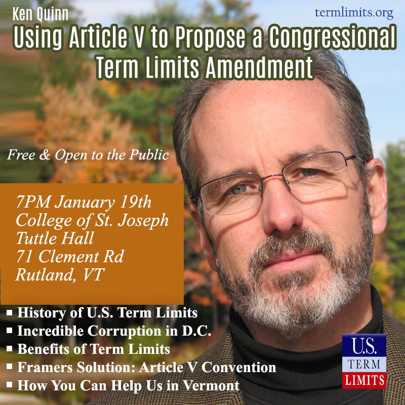 Ken Quinn on Using Article V for a Term Limits Amendment