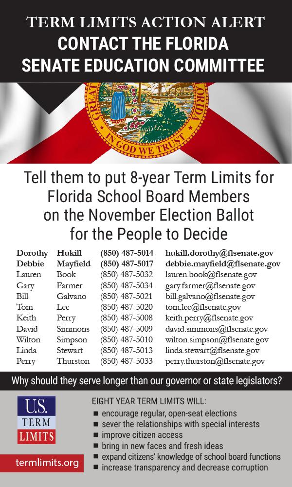 Florida School Board - U S  Term Limits