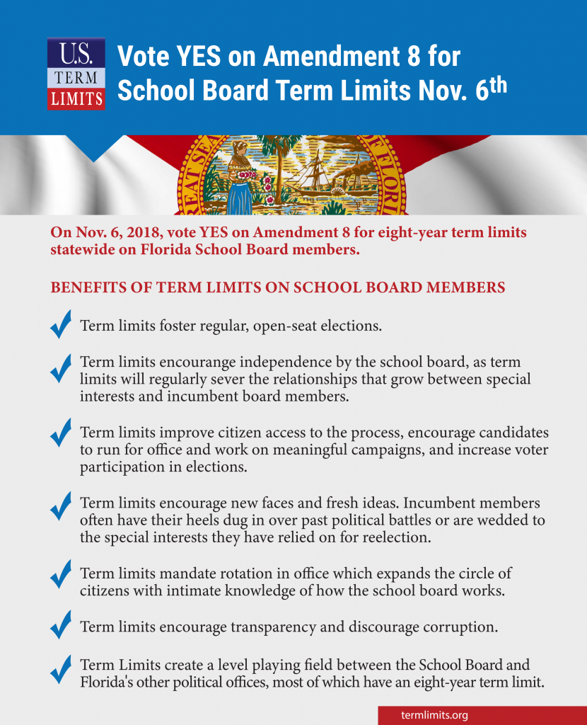 FLSchoolBoard Term Limits Vote Yes on Amendment8