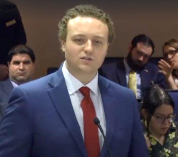 Nicolas Tomboulides addresses Florida Legislative Committee on term limits for school board