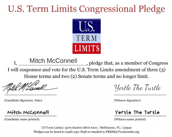 Mitch McConnell signs term limits pledge