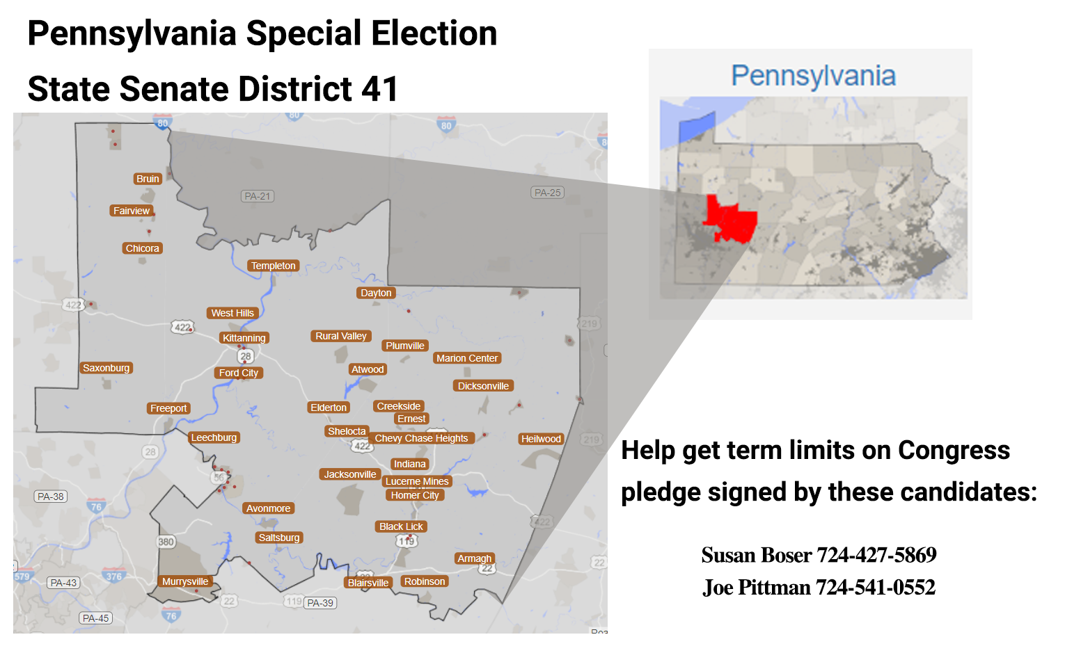 PA SD-41 ACTION ALERT: Term Limit Congress - U.S. Term Limits on antrim pa map, smicksburg pa map, limerick pa map, marion center pa map, dublin pa map, green township pa map, norfolk pa map, new florence pa map, young township pa map, northumberland pa map, durham pa map, beaver pa map, middlesex pa map, letterkenny pa map, lucerne mines pa map, johnstown pa map, glasgow pa map, lurgan pa map, salisbury pa map, cornwall pa map,