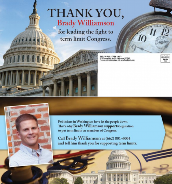 Thank you for signing the Term Limits pledge mailer