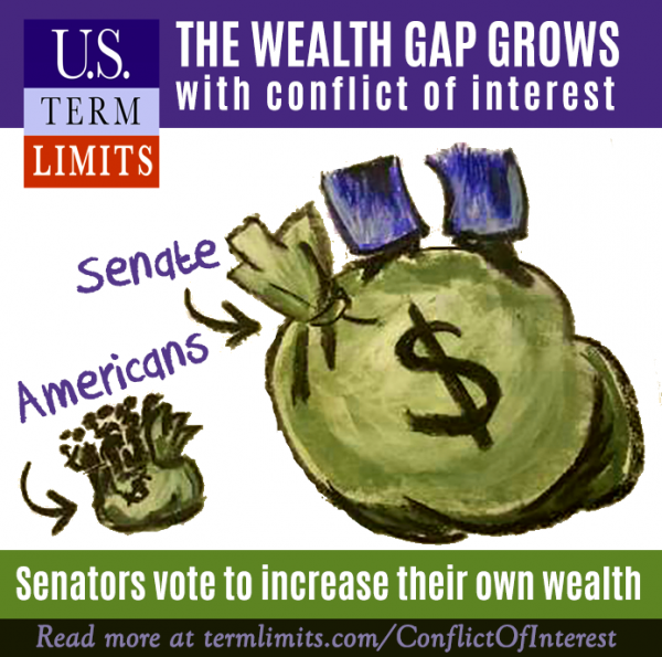 Senators increase personal wealth through policymaking