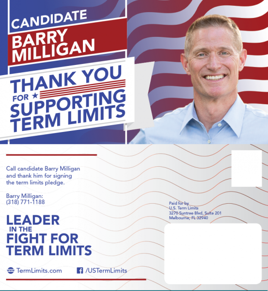 Barry Milligan Supports Term Limits