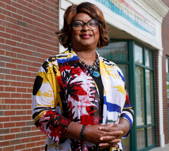 Mayor Ella Jones first black and first woman elected as Ferguson mayor.