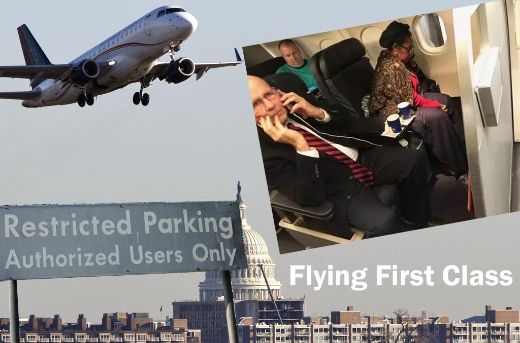 Congress flies first class