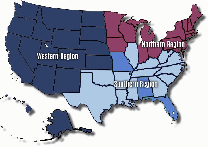 USTL Regional Map